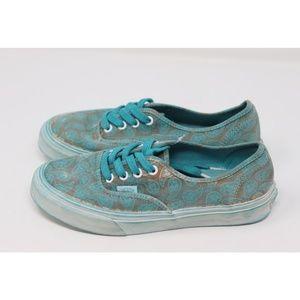 Vans Shoes - Vans   NEW overwash Paisley turquoise sneaker shoe